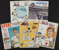 Baseball Collectibles:Publications, 1960-68 New York Mets Yearbooks and More Lot of 5....