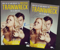 """Amy Schumer, Bill Hader, Etc. Multi Signed """"Trainwreck"""" Posters Lot of 2"""