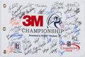 Golf Collectibles:Autographs, 2015 3M Championship Multi Signed Flag....