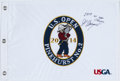 "Golf Collectibles:Autographs, Martin Kaymer ""2014 US Open Champion"" Signed Flag...."