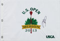 Golf Collectibles:Autographs, Justin Rose Signed 2013 U.S. Open Flag....