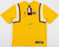 Basketball Collectibles:Uniforms, Kobe Bryant Signed UDA Los Angeles Lakers Warm Up Jacket....