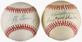 Baseball Collectibles:Balls, Bauer/Skowron and Lefty Gomez Signed Baseballs (2)....