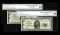 National Bank Notes:Pennsylvania, Harrisburg, PA - $5 1929 Ty. 2 The Harrisburg NB Ch. # 580. Aconsecutive pair certified as CGA Choice Uncirculated 64... (Total:2 notes)