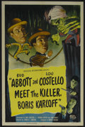 "Movie Posters:Comedy, Abbott and Costello Meet the Killer, Boris Karloff (UniversalInternational, 1949). One Sheet (27"" X 41""). Comedy. Starring ..."