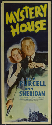 "Mystery House (Warner Brothers, 1938). Insert (14"" X 36""). Mystery. Starring Dick Purcell, Ann Sheridan, Anne..."