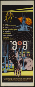 "Movie Posters:Science Fiction, Gog (United Artists, 1954). Insert (14"" X 36""). Science Fiction.Starring Richard Egan, Constance Dowling, Herbert Marshall,..."
