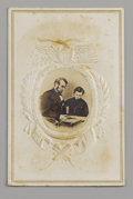 Photography:CDVs, Abraham Lincoln With Tad Lincoln Carte de Visite. This timeless photograph is one of the most beloved of Lincoln images....