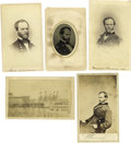 Photography:CDVs, Union General William T. Sherman: Five Cartes de Visite. Famous for his March to the Sea, Sherman is shown here in four ... (Total: 5 )