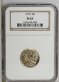 Proof Buffalo Nickels: , 1914 5C PR67 NGC. NGC Census: (61/8). PCGS Population (54/8).Mintage: 1,275. Numismedia Wsl. Price: $3,550. (#3991)...