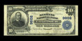 National Bank Notes:Kentucky, Catlettsburg, KY - $10 1902 Plain Back Fr. 627 The Kentucky NB Ch.# 9602. This Very Fine note is just the fourth $1...