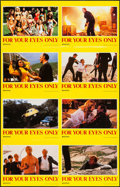 """Movie Posters:James Bond, For Your Eyes Only (United Artists, 1981). Uncut Sheet of 8Australian Lobby Cards (44"""" X 28""""). James Bond.. ... (Total: 8Items)"""