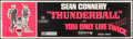 "Movie Posters:James Bond, Thunderball/You Only Live Twice Combo (United Artists, 1970). SilkScreen Banner (24"" X 82""). James Bond.. ..."