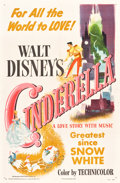 "Movie Posters:Animation, Cinderella (RKO, 1950). One Sheet (27"" X 41"").. ..."