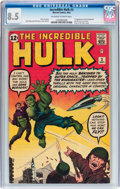 Silver Age (1956-1969):Superhero, The Incredible Hulk #3 (Marvel, 1962) CGC VF+ 8.5 Off-white to white pages....