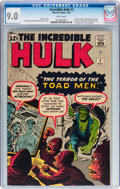 Silver Age (1956-1969):Superhero, The Incredible Hulk #2 (Marvel, 1962) CGC VF/NM 9.0 White pages....