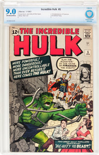 The Incredible Hulk #5 (Marvel, 1963) CBCS VF/NM 9.0 Off-white to white pages