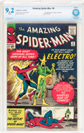 Silver Age (1956-1969):Superhero, The Amazing Spider-Man #9 (Marvel, 1964) CBCS NM- 9.2 Whitepages....