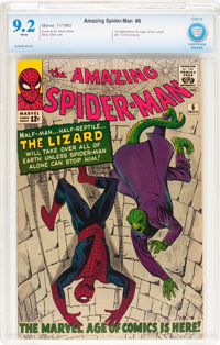 The Amazing Spider-Man #6 (Marvel, 1963) CBCS NM- 9.2 White pages
