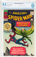 Silver Age (1956-1969):Superhero, The Amazing Spider-Man #7 (Marvel, 1963) CBCS NM- 9.2 Off-white towhite pages....