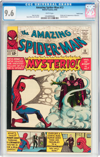The Amazing Spider-Man #13 Pacific Coast pedigree (Marvel, 1964) CGC NM+ 9.6 White pages