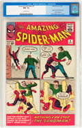 Silver Age (1956-1969):Superhero, The Amazing Spider-Man #4 (Marvel, 1963) CGC NM- 9.2 Off-whitepages....