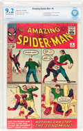 Silver Age (1956-1969):Superhero, The Amazing Spider-Man #4 (Marvel, 1963) CBCS NM- 9.2 Off-white to white pages....