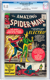 The Amazing Spider-Man #9 (Marvel, 1964) CGC NM/MT 9.8 White pages