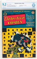 Golden Age (1938-1955):Superhero, Detective Comics #142 (DC, 1948) CBCS NM- 9.2 Off-white to white pages....