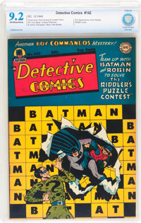 Detective Comics #142 (DC, 1948) CBCS NM- 9.2 Off-white to white pages