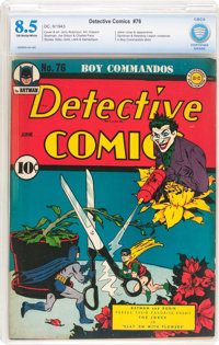 Detective Comics #76 (DC, 1943) CBCS VF+ 8.5 Off-white to white pages
