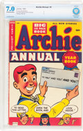 Golden Age (1938-1955):Humor, Archie Annual #1 (Archie, 1950) CBCS FN/VF 7.0 Off-white to white pages....