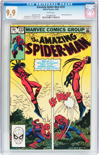 The Amazing Spider-Man #233 (Marvel, 1982) CGC MT 9.9 White pages