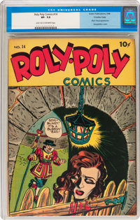 Roly Poly Comic Book #14 Crowley Copy pedigree (Green Publishing Co., 1946) CGC VF- 7.5 Light tan to off-white pages
