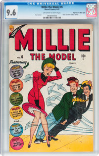 Millie the Model #6 Mile High pedigree (Atlas/Marvel, 1947) CGC NM+ 9.6 Off-white to white pages