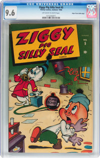 Ziggy Pig - Silly Seal Comics #5 Mile High pedigree (Timely, 1946) CGC NM+ 9.6 Off-white to white pages