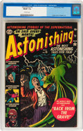 Golden Age (1938-1955):Horror, Astonishing #19 (Atlas, 1952) CGC FN/VF 7.0 Off-white pages....