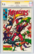 Silver Age (1956-1969):Superhero, The Avengers #55 Signature Series (Marvel, 1968) CGC NM+ 9.6 White pages....