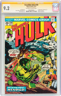 Bronze Age (1970-1979):Superhero, The Incredible Hulk #180 Signature Series (Marvel, 1974) CGC NM-9.2 Off-white to white pages....