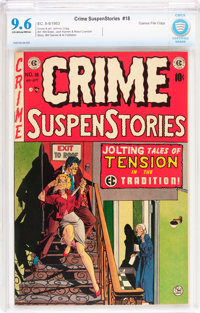 Crime SuspenStories #18 Gaines File pedigree 2/12 (EC, 1953) CBCS NM+ 9.6 Off-white to white pages