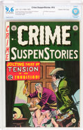 Golden Age (1938-1955):Crime, Crime SuspenStories #14 Gaines File pedigree 12/12 (EC, 1952) CBCS NM+ 9.6 Off-white to white pages....
