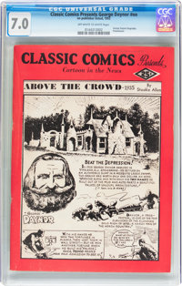 Classics Giveaways: George Daynor Biography (Gilberton, 1952) CGC FN/VF 7.0 Off-white to white pages