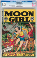 Golden Age (1938-1955):Adventure, Moon Girl #2 (EC, 1947) CGC NM- 9.2 Off-white to white pages....