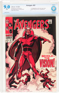 Silver Age (1956-1969):Superhero, The Avengers #57 (Marvel, 1968) CBCS VF/NM 9.0 White pages....