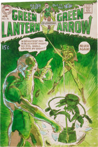 Neal Adams Green Lantern #76 Cover Hand-Painted Color Guide (DC, 1970)