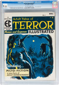 Magazines:Horror, Terror Illustrated #1 (EC, 1955) CGC NM+ 9.6 Off-white to white pages....