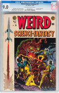 Golden Age (1938-1955):Science Fiction, Weird Science-Fantasy #27 (EC, 1955) CGC VF/NM 9.0 Off-white towhite pages....