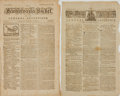 Books:Periodicals, [Newspapers, Pennsylvania]. Two Copies of the PennsylvaniaPacket. November 18, 1780 and February 13, 1781. . ... (Total:2 Items)