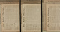 Books:Periodicals, [Newspapers]. American Newspaper Collection, 1790 - 1865. ...(Total: 3 Items)