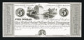 Obsoletes By State:Indiana, Connersville, IN- White Water Valley Canal Company $5 Wolka 140-3 Proof. ...